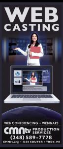 CMNtv Web Cast Rack Card